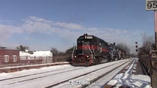 Pan Am Railways Dirty Dirt Trains on the New Hampshire Route!