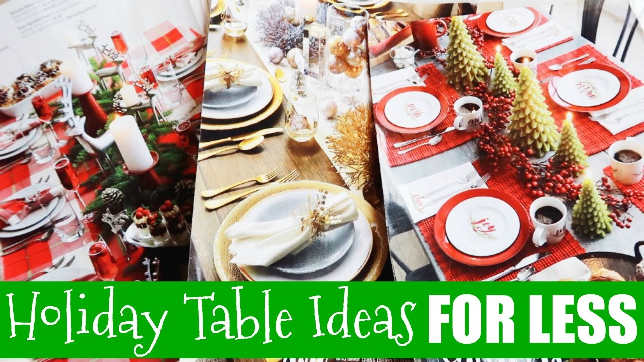How to Decorate Your Christmas Table for Less!????