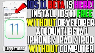 How To Install iOS 11 Beta 1 FREE Without A Developer Account (NO Computer) iPhone,iPad,iPod