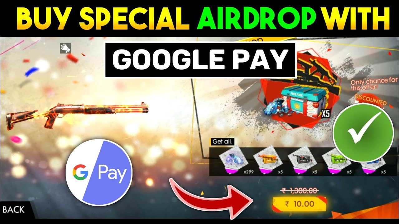 How To Buy Free Fire Special Airdrop With Google Pay || Google Pay Se Free Fire Airdrop Kaise Le