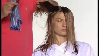 Стрижка длинных женских волос по технологии Видал Сассун