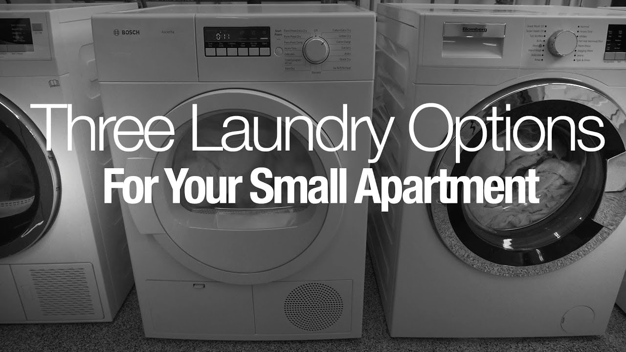 Three Laundry Options for Small Homes or Apartments