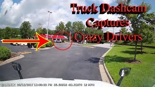 Truck Driving Dash Cam - Who is at Fault? Truck, Car, or Motorcycle?