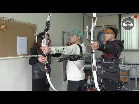 [BANGTAN BOMB] BTS (방탄소년단) Became an archer! SUGA & JIMIN's new challenge for ISAC
