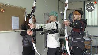 bangtan bomb became an archer suga jimin s new challenge for isac