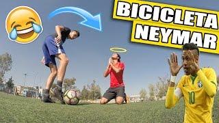 JUEGA COMO NEYMAR / Como hacer una BICICLETA al estilo NEYMAR - Jugadas, caños, fintas de futbol