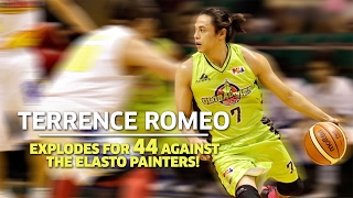 Terrence Romeo Explodes for 44 Against the Elasto Painters | PBA Philippine Cup 2016 - 2017
