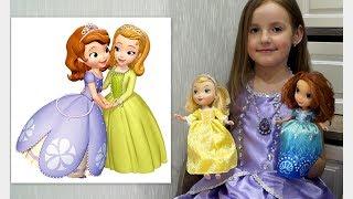Принцесса София Прекрасная. Аппликация из пластилина