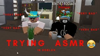 TRYING TO DO ASMR IN ROBLOX. *Diarrhea sounds*