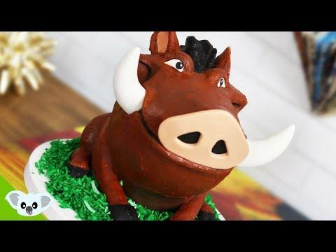 The Lion King PUMBA CAKE! | Birthday Party Ideas| Cake Art | Koalipops