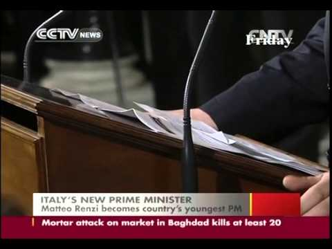 Matteo Renzi becomes Italy´s youngest PM