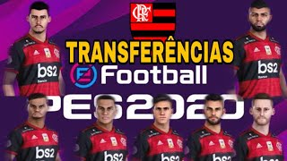 PES 2020 Flamengo Transferências 2020 como atualizar elenco - Passo a Passo, numeração e escalação