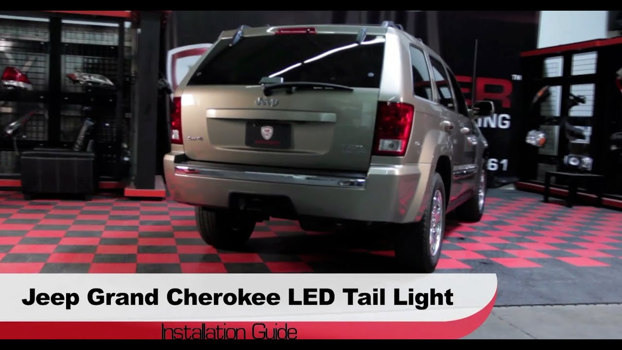 spyder auto installation 2005 06 jeep grand cherokee led tail lights [ 1280 x 720 Pixel ]