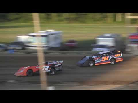 Late Model Heat Race #2 at Crystal Motor Speedway, Michigan on 08-24-2019!