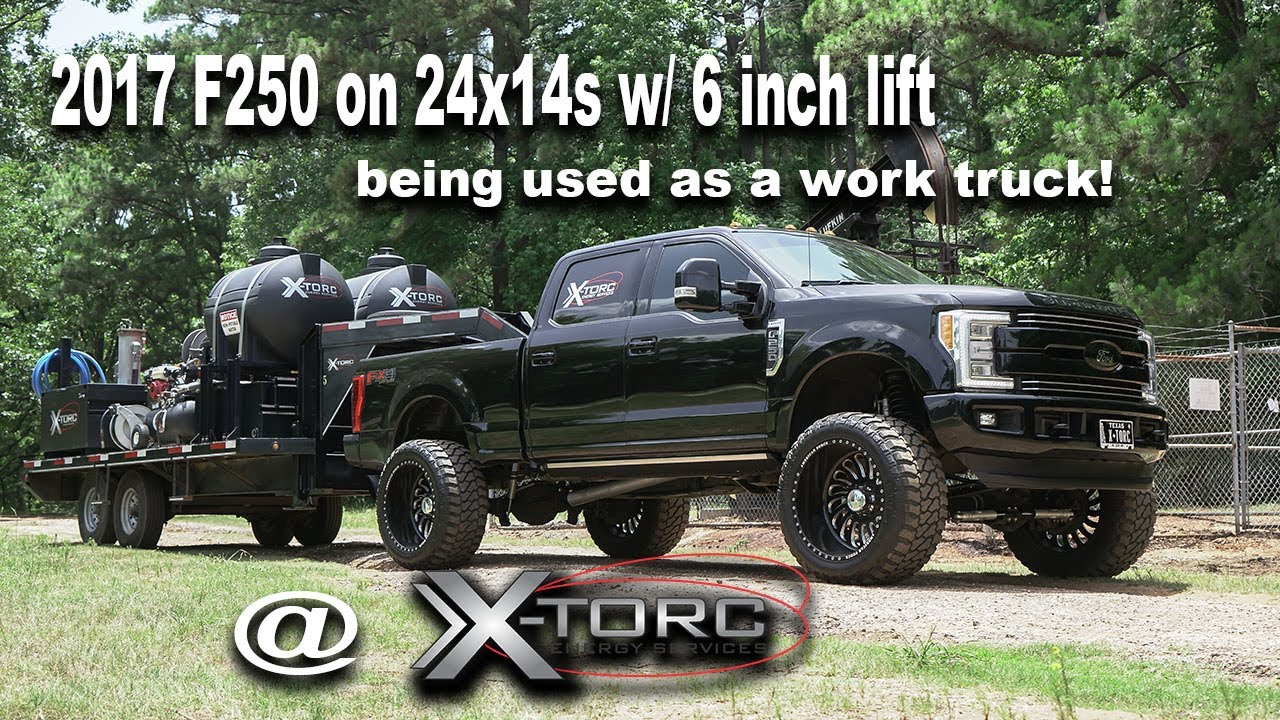2017 F250 Lifted >> 2017 F250 Lifted on 24x14 American Force wheels being used as a everyday Oil field work truck ...