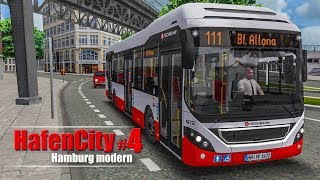 OMSI 2: Hamburg HafenCity #4 - Landungsbrücken und Reeperbahn auf der 111!   BUS-SIMULATOR