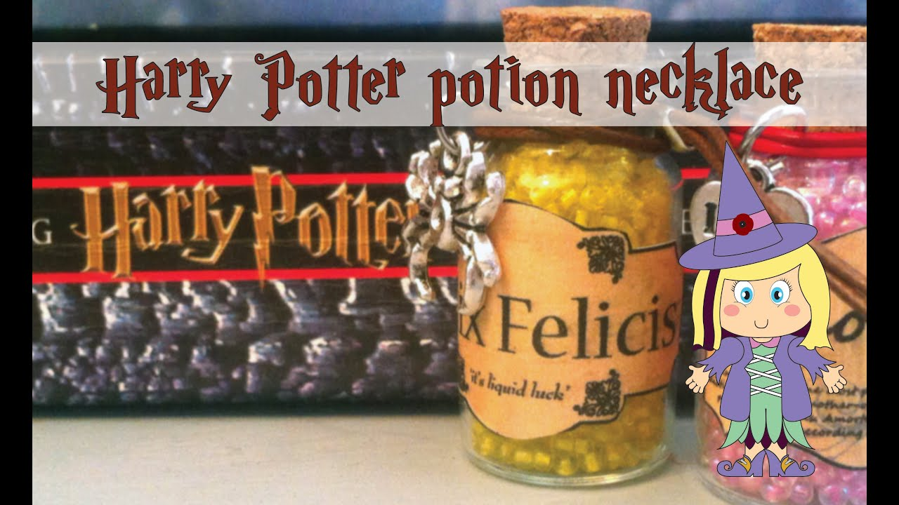 graphic relating to Harry Potter Potion Labels Printable named Do-it-yourself Harry Potter potion necklace - Totally free PRINTABLE POTION LABELS