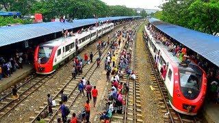 Dangerous crowd of Demu trains in Bangladesh / বাংলাদেশের ডেমু ট্রেনে বিপজ্জনক ভিড়