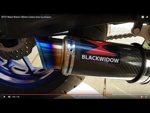 mt07 black widow 230mm carbon blue tip