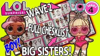 LOL Surprise Series 4 Wave 2 Under Wraps Full Checklist! NEW LOL Dolls | LOL Doll Videos | L.O.L.