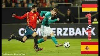 Allemagne vs Espagne 1-1 résumé en francais Match amical 23/03/2018-HD