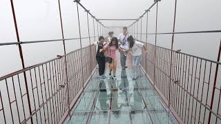 World's Longest And Highest Glass Bottom Bridge To Open In China