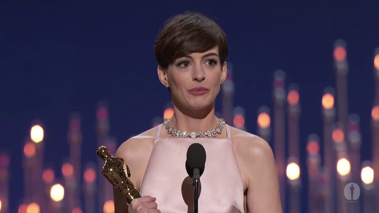Anne Hathaway winning Best Supporting Actress - YouTube