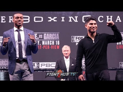 ERROL SPENCE VS MIKEY GARCIA - THE FULL LOS ANGELES PRESS CONFERENCE & FACE OFF VIDEO