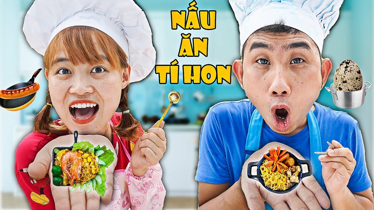 Hà Sam | Cuộc Thi Nấu Ăn Tí Hon Tìm Ra Vua Mì Tôm - Miniature Cooking Mini Food