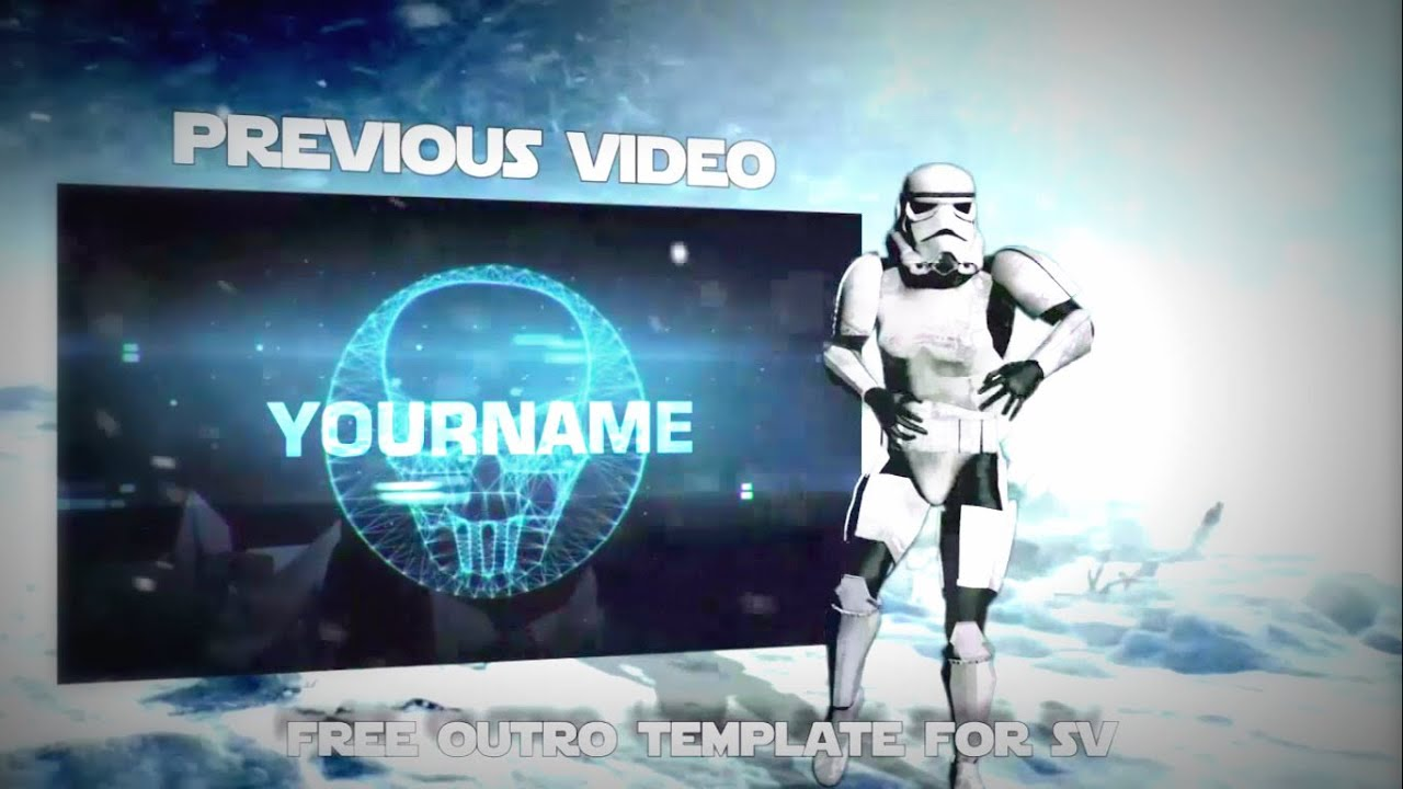start wars battlefront gaming outro template for sony vegas free