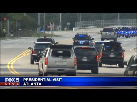 President Obama Visits Atlanta GA, Emory, and The CDC