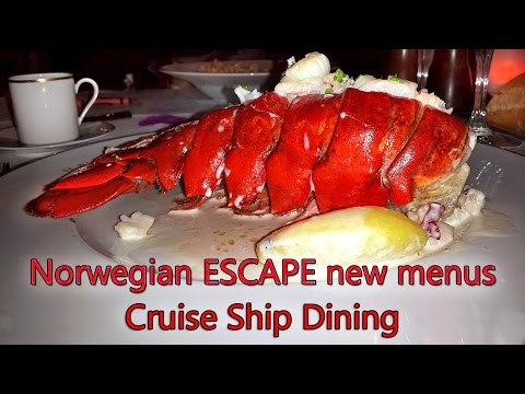 Cruise ship dining | New NCL menu revealed 2016
