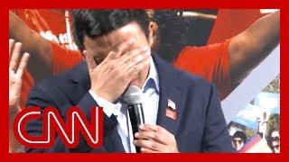 Presidential candidate Andrew Yang breaks down over gun violence