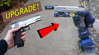 Building the CRAZIEST PISTOL EVER! Hi-Capa Teching & Shooting Test! *Insane Airsoft Gun*