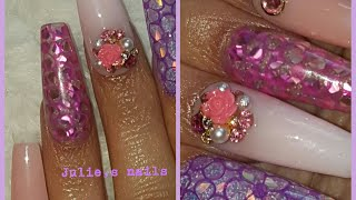 Work with Venalisa polygel Venalisa glitter gel nails