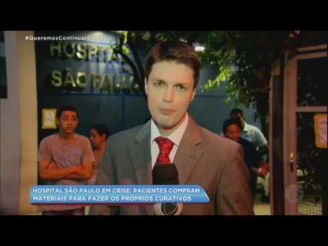 Pacientes fazem os próprios curativos no Hospital São Paulo