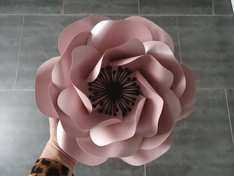 Paper Flower Tutorial Template #99. Easy Flower Tutorial. Diy Paper Flowers. Diy Rose Tutorial