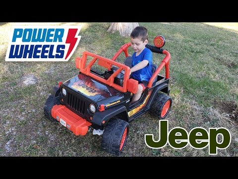 Power Wheels Tough Talking Jeep Unboxing, Assembly And Playtime