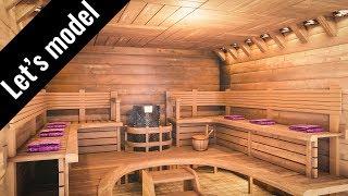 Sauna - Speed modeling in Blender