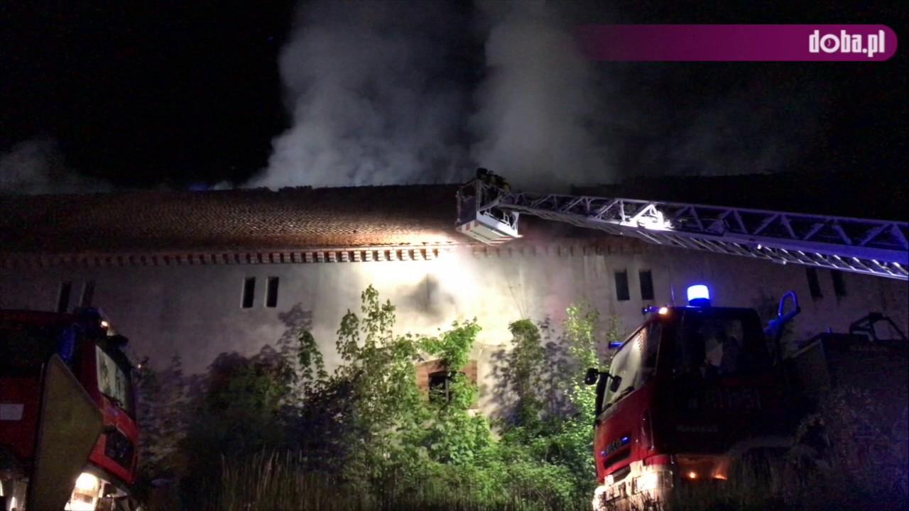 Pożar stodoły w Podlesiu