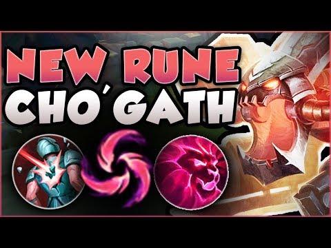 DID RITO GO OVERBOARD?? CHO\'GATH E + NEW RUNE TOO OP! CHO\'GATH SEASON 8 GAMEPLAY! League of Legends