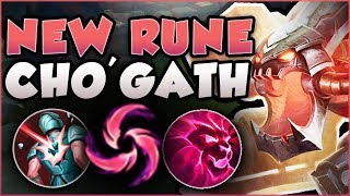 DID RITO GO OVERBOARD?? CHO'GATH E + NEW RUNE TOO OP! CHO'GATH SEASON 8 GAMEPLAY! League of Legends
