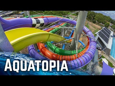 ALL WATER SLIDES at Aquatopia Prairiewood Water Park (GoPro)