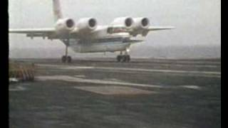 NASA Quiet Short-Haul Research Aircraft (QSRA) Carrier Trials