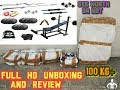 Home Gym Set Combo 100 Kg Weight Unboxing and Full Review