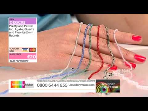Learn how to make genuine gemstone jewellery - JM DI 21/05/14