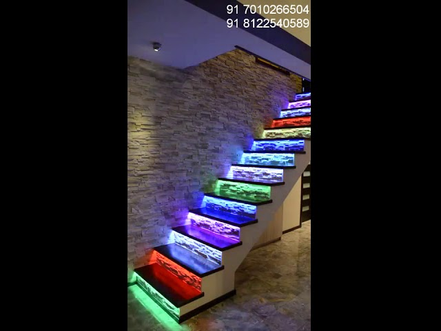 Motion Sensor LED Lighting Stairs Steps in House Construction New Design India +91 81225 40589