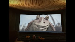 Wild and crazy audience during Star Wars Episode I: The Phantom Menace