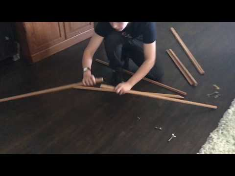 How To Assemble A Traditional Easel (from Hobby Lobby)