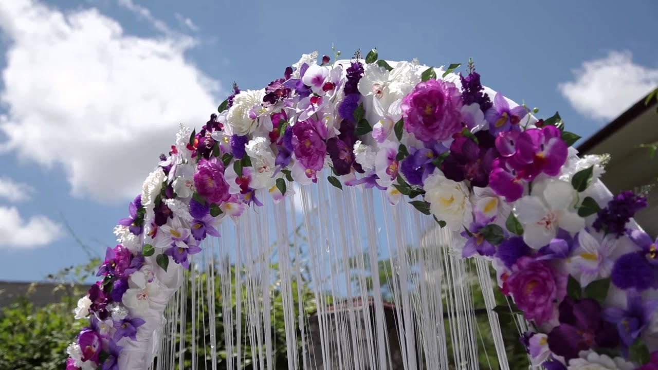 Wedding arch purple color style free hd stock footage youtube junglespirit Gallery